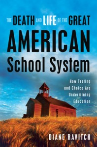"Ravich's book, ""The Death and Life of the Great American School System"" Image: motherjones.com"