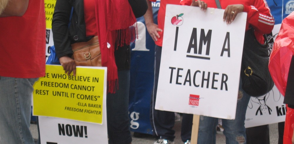 Teachers Rally to Protest Bill & Melinda Gates Foundation