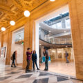 Some of the most beautiful campuses in the country belong to art schools, and Pacific Northwest College of Art (PNCA) is no exception. Here, students enjoy the juxtaposition of old and new at PNCA's new home in an old federal building.